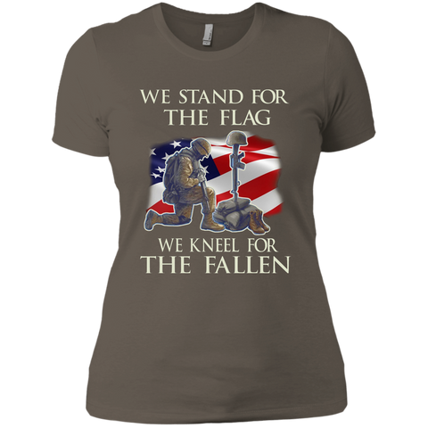 We Stand For The Flag We Kneel For The Fallen T-Shirt Next Level Ladies' Boyfriend Tee