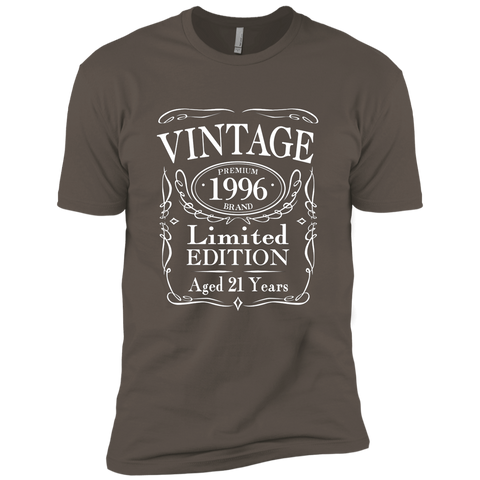 Vintage 1996 Limited Edition 21st Birthday Gift T-Shirt Next Level Premium Short Sleeve Tee