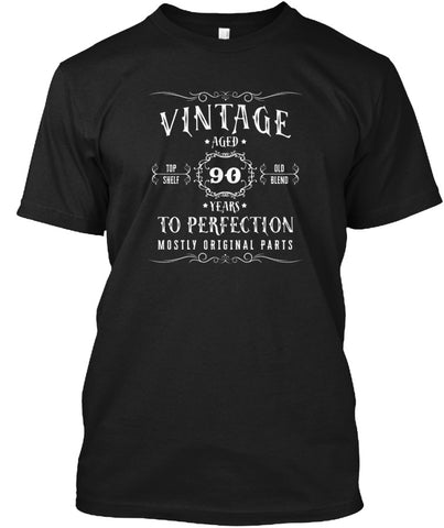 Vintage Aged 90 Years Birthday T-Shirt