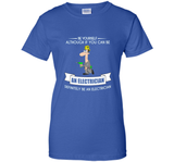 Funny  Be Yourself Electrician T-shirt Fathers Day Gift