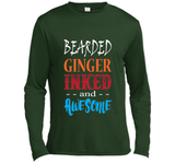 Funny Bearded Ginger Inked Awesome T-shirt Fathers Day Ginga