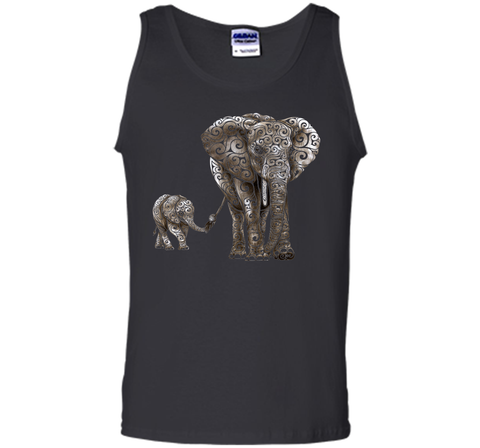 Amiable Swirly Elephants 2017 T Shirt