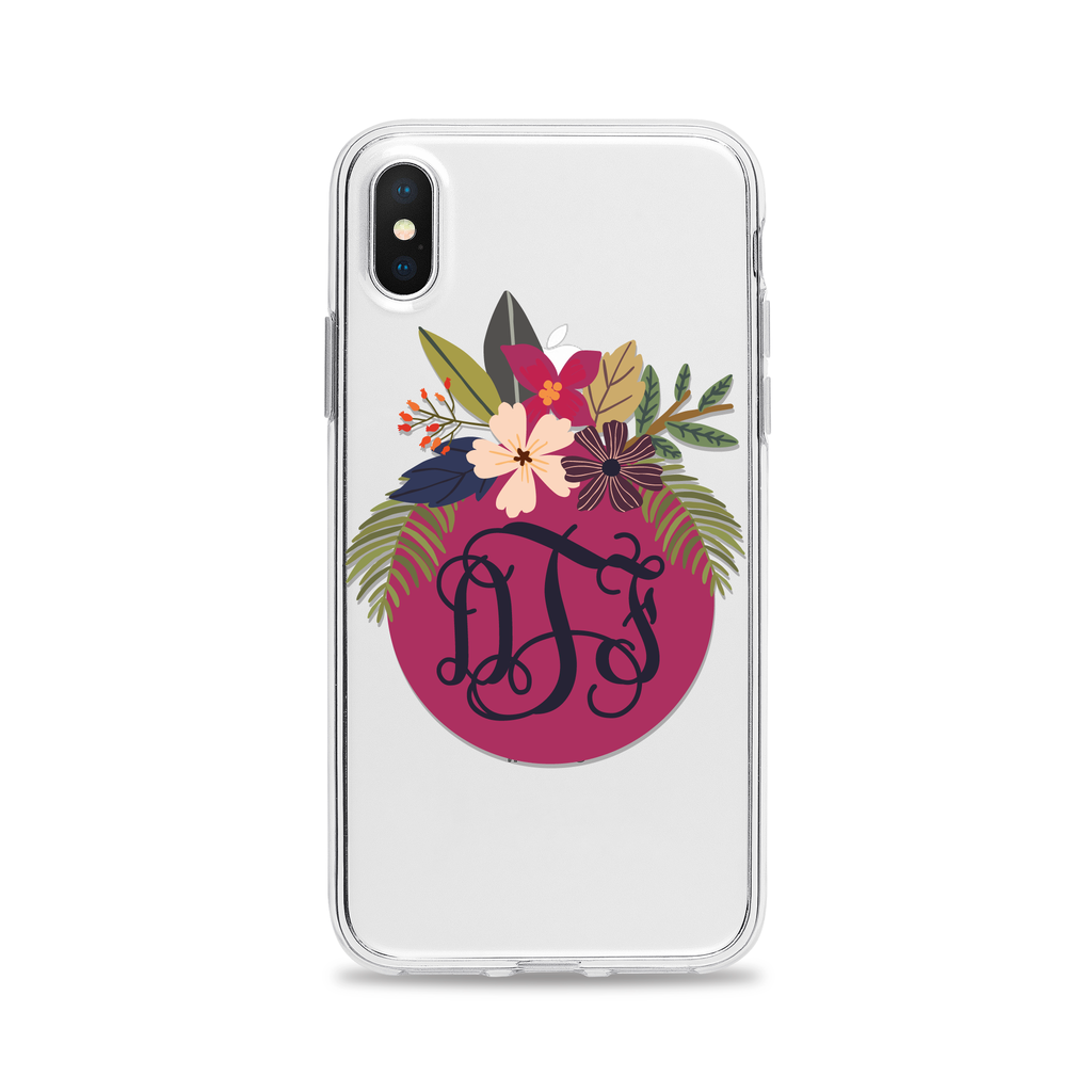 Monogram Floral iPhone Case by Case Charming