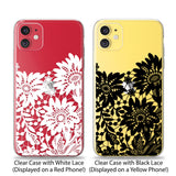 Black Floral Lace Phone Case