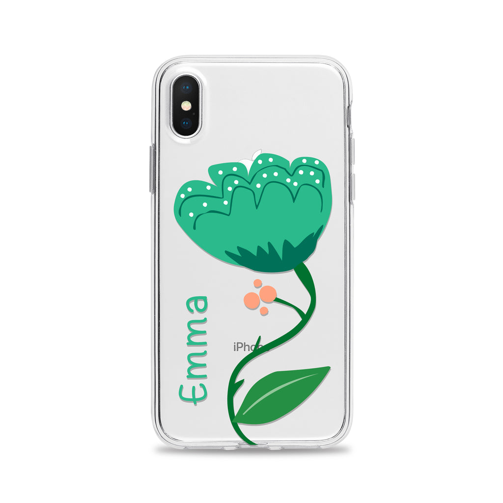 Personalize iPhone Case and Samsung Galaxy Case Floral