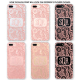 Blush Lace Monogram Phone Case