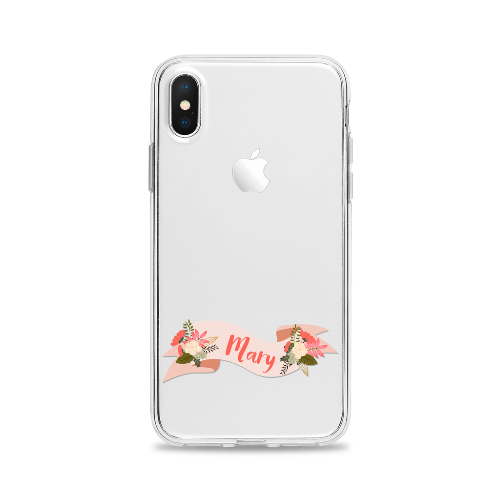 Coral Floral Banner Phone Case