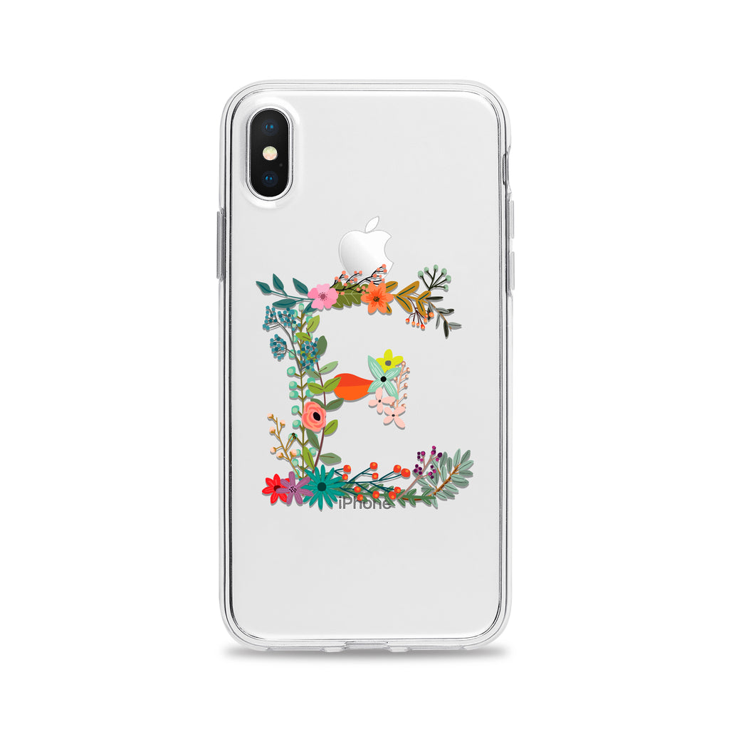 Country Flowers Letter Phone Case