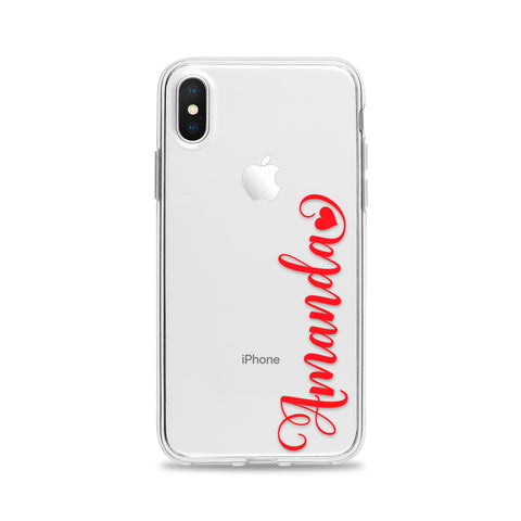 Custom Text Amanda Font Phone Case