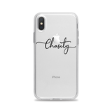 Custom Text Chasity Font Phone Case