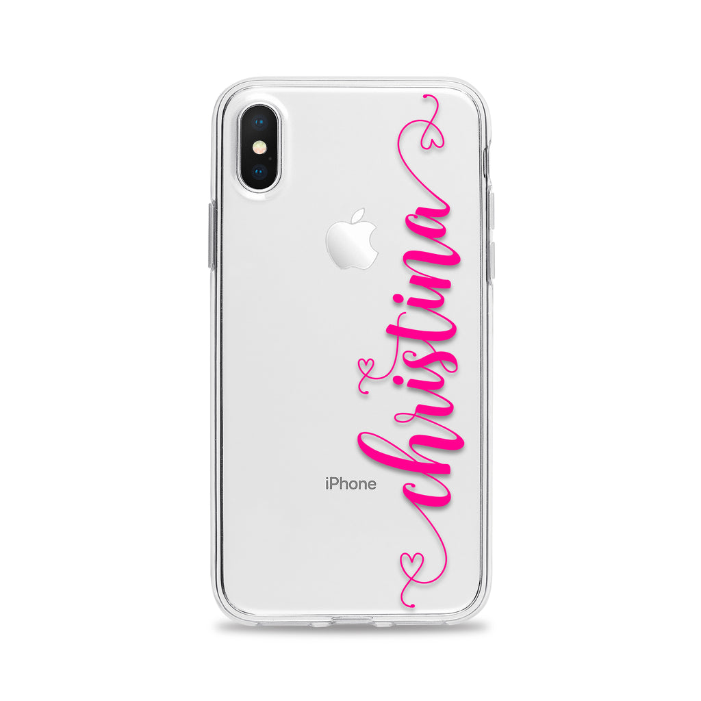 Custom Text Christina Font Phone Case