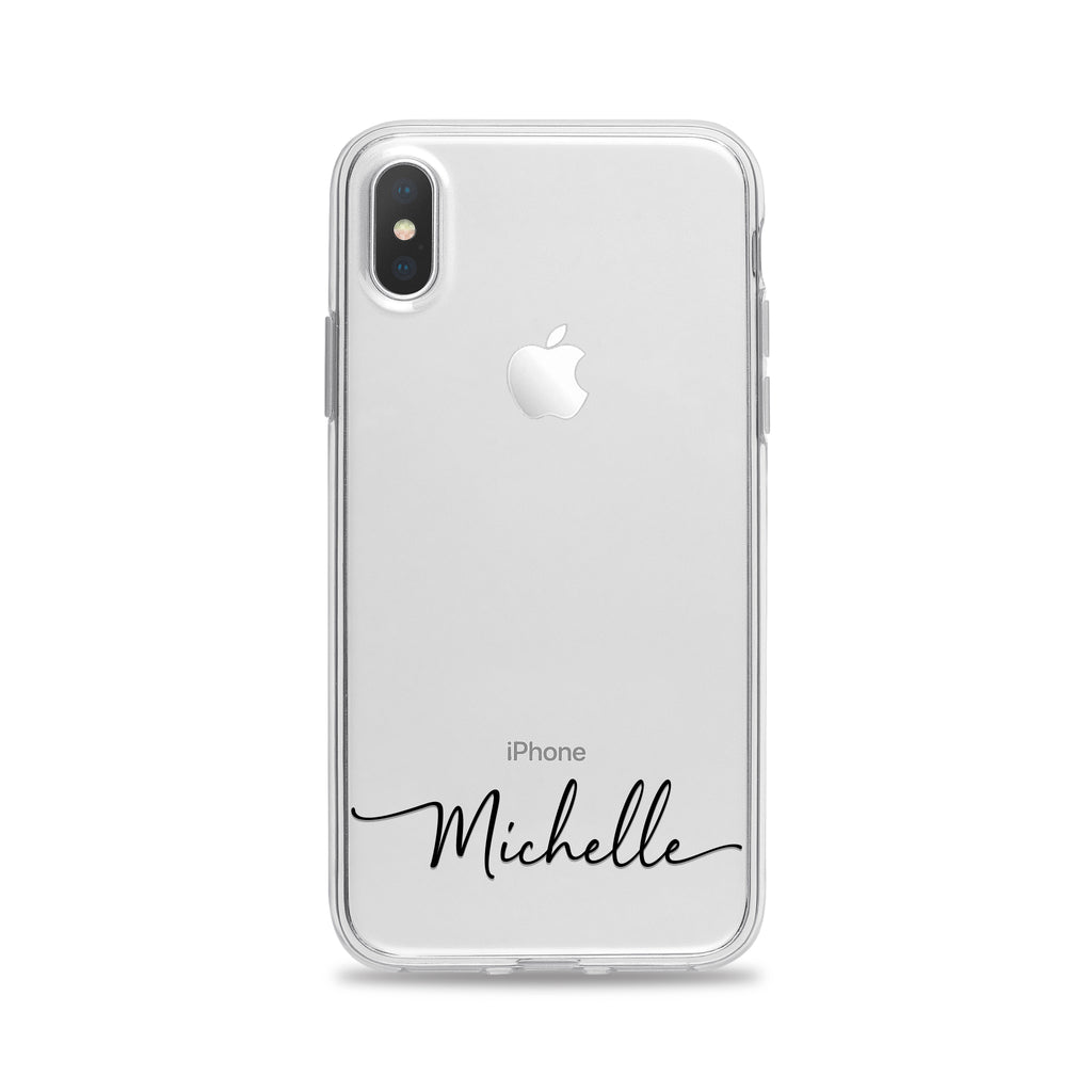 Personalized Clear Phone Case for iPhone and Samsung Galaxy by Case Charming