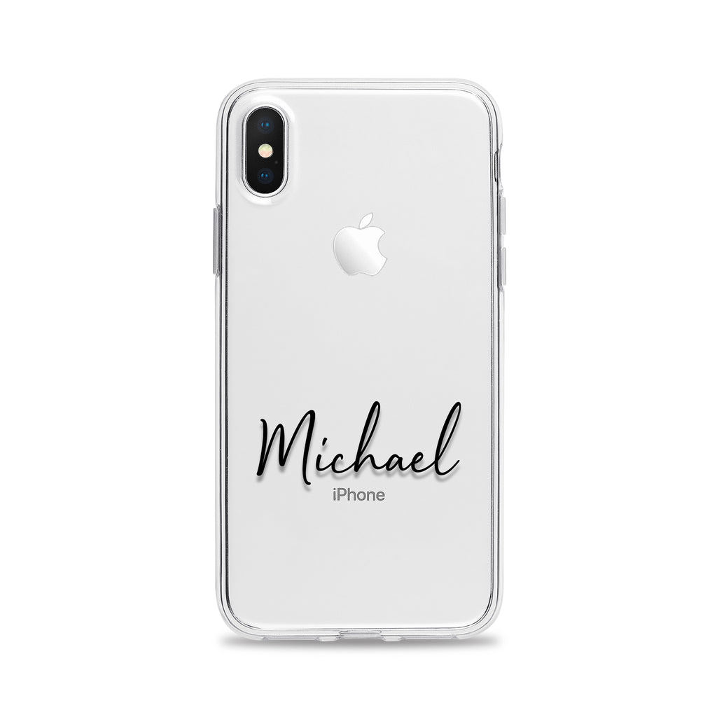 Clear Phone Case Personalized Name for iPhone and Samsung Galaxy