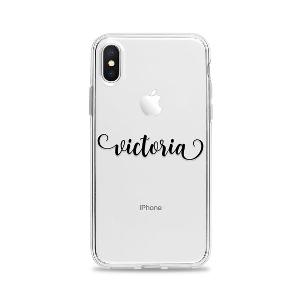 Custom Text Victoria Font Phone Case