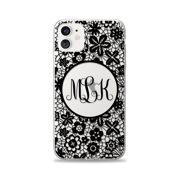 Dainty Lacey Monogram Phone Case
