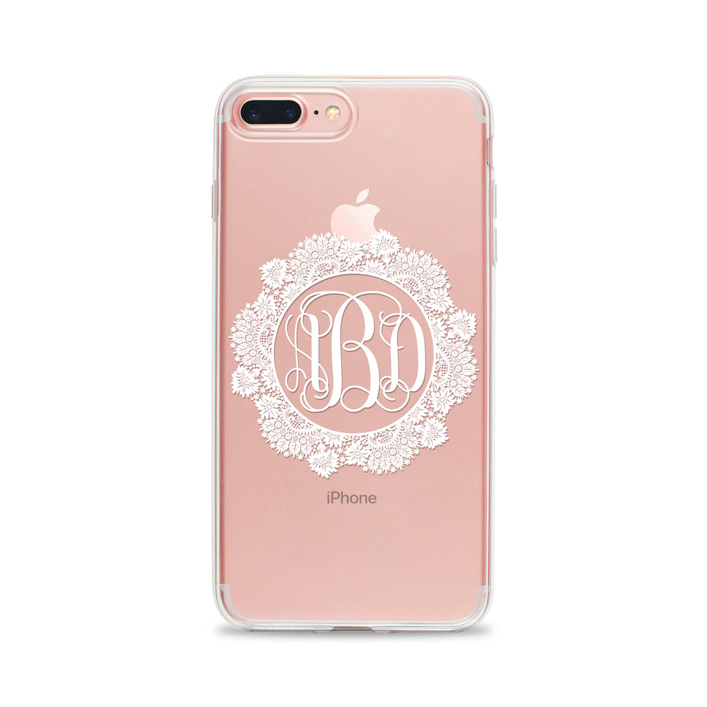 Flirty Lace Monogram Phone Case