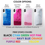 "Stardust Glitter Phone Case - Custom Text ""Jasmine"" Font"