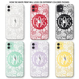Lacey Circle Frame Phone Case