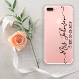 Mrs with Custom Name and Date Phone Case