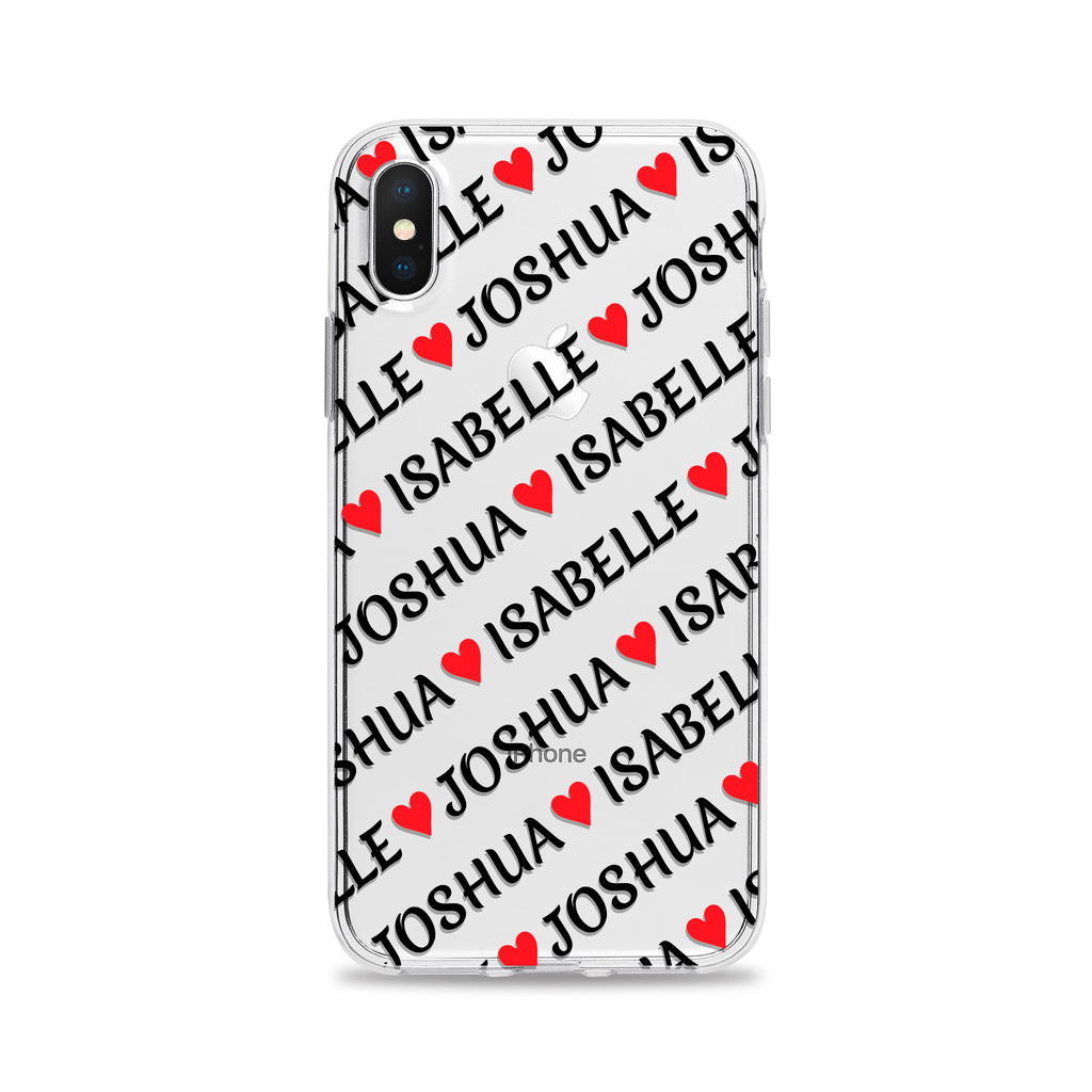 Names and Hearts Phone Case