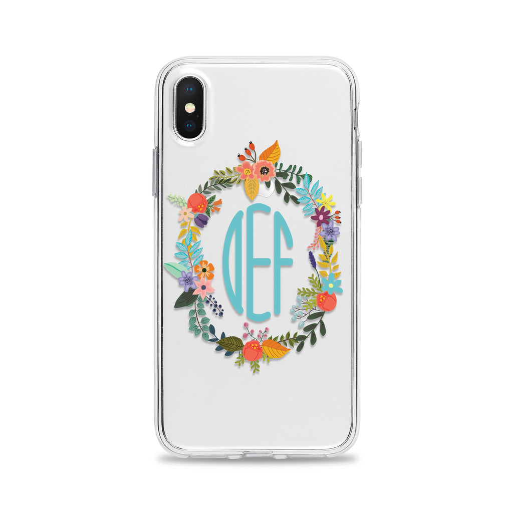 Oval Floral Frame Phone Case