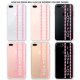 Pink Hearts Banner Phone Case
