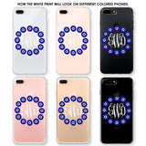Ring of Evil Eyes Monogram Phone Case