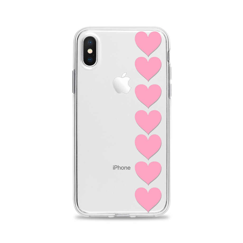 Seven Pink Hearts Phone Case