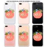 Spring Flowers Monogram Phone Case