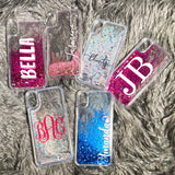 "Stardust Glitter Phone Case - Custom Text ""Amanda"" Font"