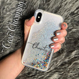 "Stardust Glitter Phone Case - Custom Text ""Chasity"" Font"