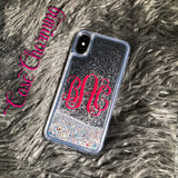 Stardust Glitter Phone Case with Fancy Monogram