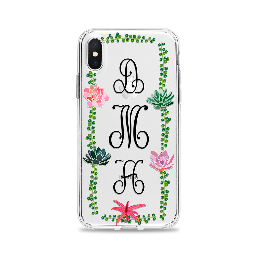 Succulent Monogram Phone Case
