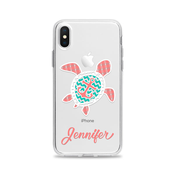 Turtle with Anchor Phone Case