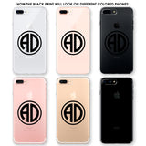 Two Initials Circle Monogram Phone Case
