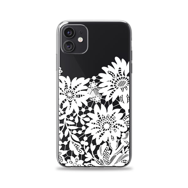 White Floral Lace Phone Case