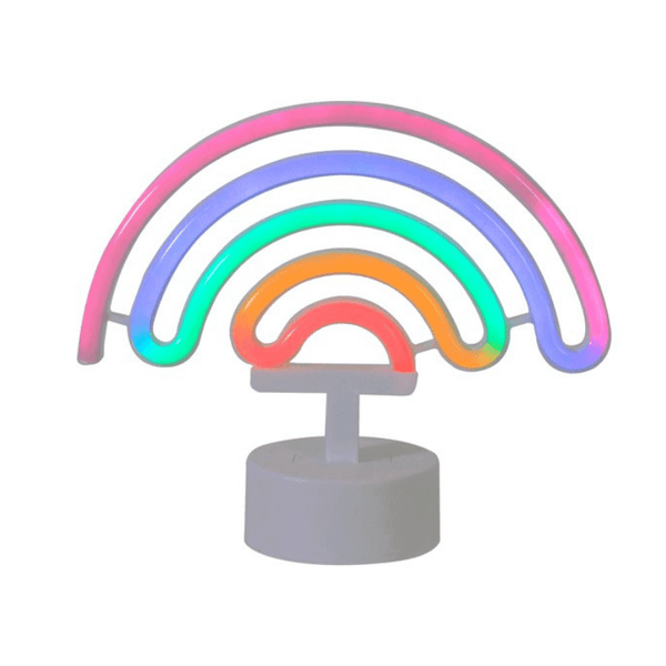 rainbow neon light battery operated