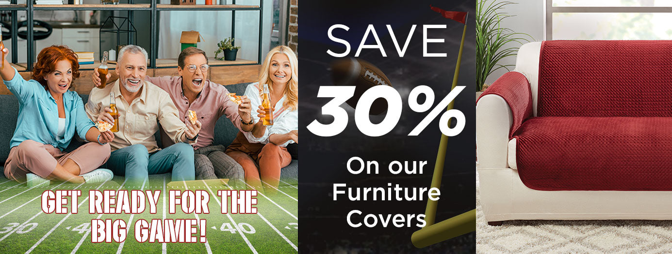 Get Ready for The Big Game - Save 30% - SureFit Slipcovers