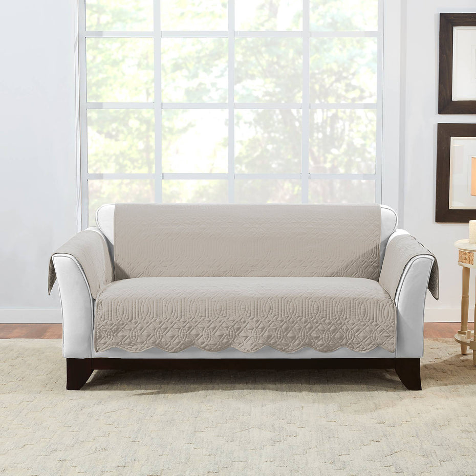 Microtouch Reversible Loveseat Furniture Cover | Machine Washable