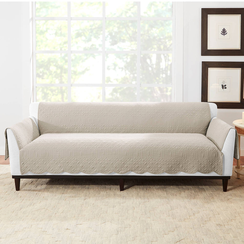 Microtouch Reversible Sofa Furniture Cover | Machine Washable