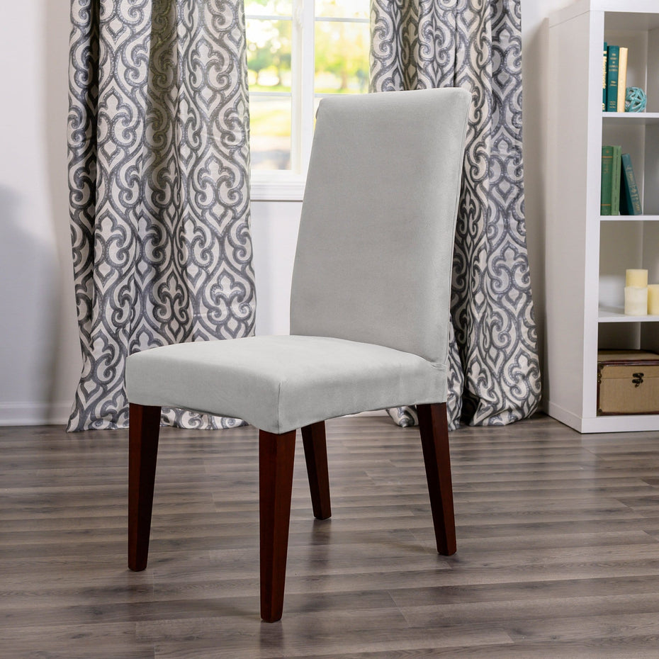 ultimate stretch suede dining room chair cover