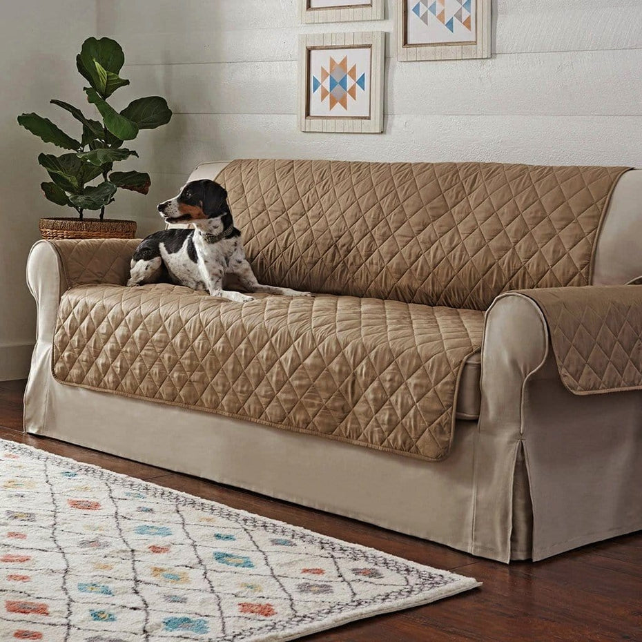Non-Skid Waterproof Quilted Sofa Furniture Cover | Pet Furniture Cover | Machine Washable