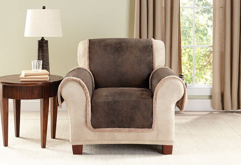 Incroyable Vintage Leather Chair Furniture Cover