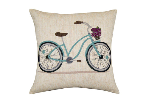 Abbi Bicycle Woven Decorative Pillow