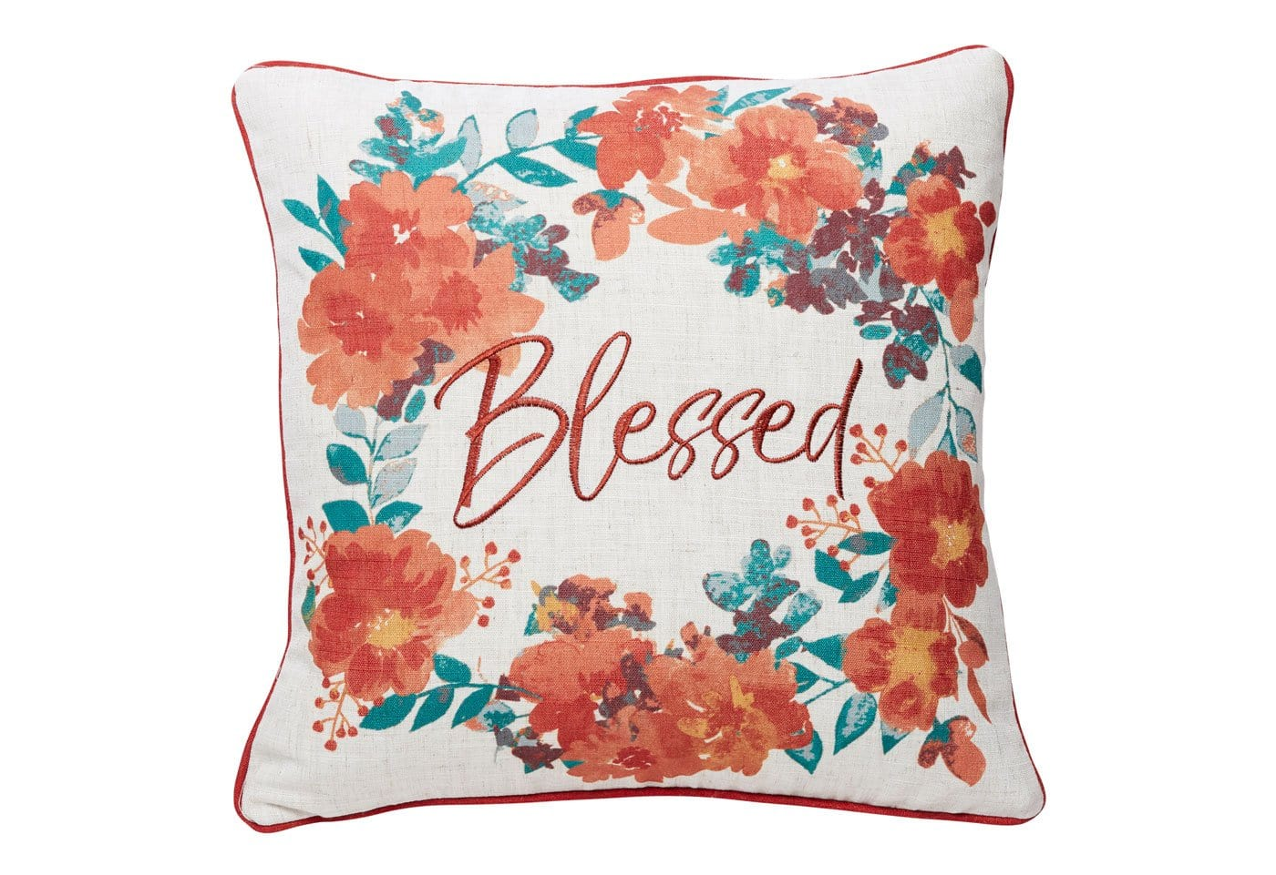 Blessed Wreath 18x18 Decorative Pillow Cover