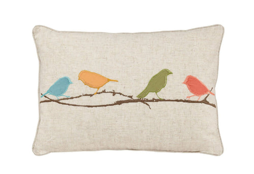 Finches 14x20 Decorative Pillow