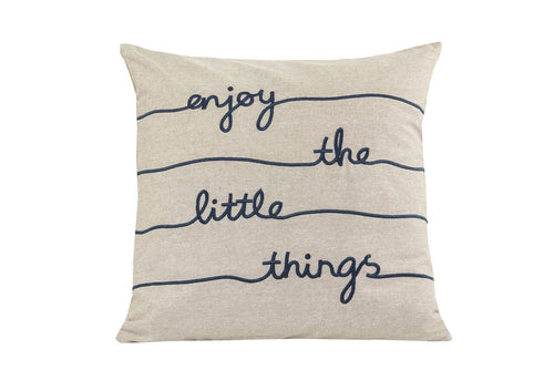 Enjoy The Little Things 20x20 Decorative Pillow Cover