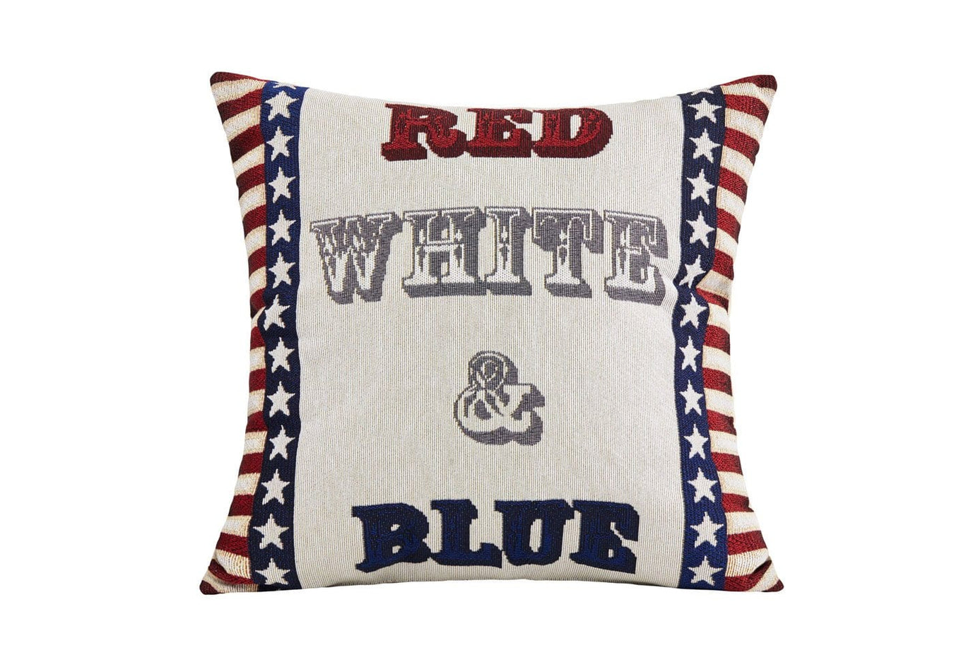 Red White and Blue Decorative Pillow