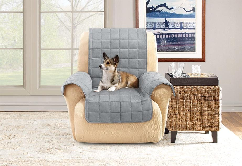 Comfort Memory Foam with Paw Prints Recliner Furniture Cover