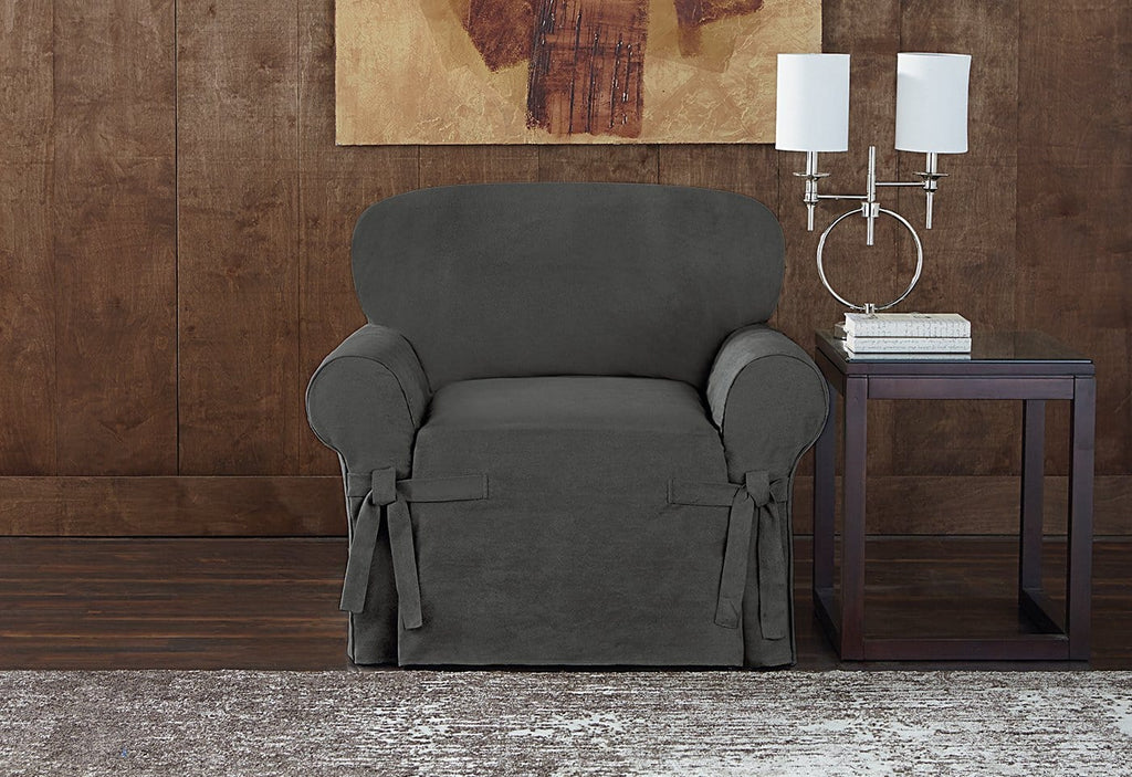 Sueded Twill Slipcover Chair Surefit